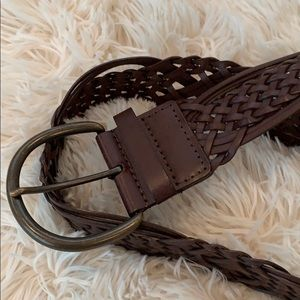 Accessories - LEATHER BRAIDED BELT